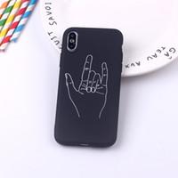 Per iPhone Minimalismo creativo Linee Schizzo TPU della cassa del telefono caso 11 X caso TPU ultra sottile per l'iphone 8 accessori mobili