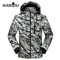 HANQIU Mode Camouflage Paare Ja Männer Frauen Casaco Cape Windjack Wasserdicht Dunne Runner Camo Ja Jaqueta