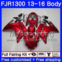 Kit para YAMAHA FJR1300 A FJR1300A FJR1300 13 16 247HM.0 FJR-1300A FJR 1300 13 14 15 16 FJR-1300 2013 2014 2015 2016 Fairing Top Factory rojo
