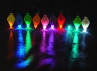SXI 100 unids / lote venta al por mayor floralyte luz led con pilas luz de empuje varios colores para centro de mesa de vidrio artesanía