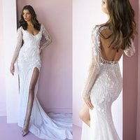 Luxury Strapless Crystals Pearls Floor Length Corset African Mermaid Bridal Wedding Dresses