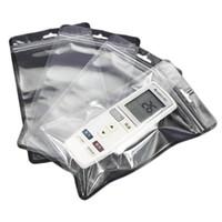 명확한 플라스틱 폴리 가방 12.5 * 21cm OPP PVC 폴리 가방 지퍼 포장 소매 전화 액세서리 USB 케이블 박스 가방 패키지