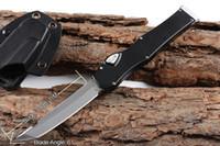 """Oferta Especial Tanto / Drop Blade Knifes (4.6 """"Cetim) 150-4 Ação única Auto Auto Faca Tática Sobrevivência Facas de Engrenagem Manuseio Vermelho"""