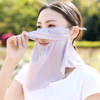 Le donne scialle Parasole maschera Allegato Copricapo anti UV Collo Protezione Viaggi Estate Alpinismo Ciclismo resistente alla polvere maschera LJJA3823