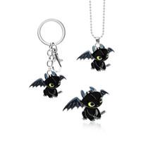 How to Train Your Dragon 3 senza denti Notte portachiavi Furia Animal collana per i tasti dell'automobile chiave sacchetto dell'anello borsa Portachiavi giocattoli per bambini