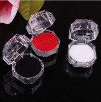 Обручальные кольца чехлы Прозрачные кольцевые коробки прозрачные кольца держатель ювелирных изделий коробки пакеты ювелирные изделия упаковка упаковки хранения коробки