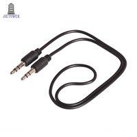 3.5mm 50CM ذكر لذكر الصوت Aux التوصيل 3-Ring البسيطة AV كبل 500pcs