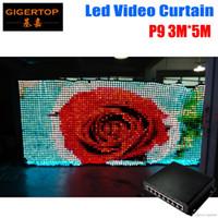 P9 3M * 5 M LED Vison rideau avec PC / mode SD, Tricolor 3in1 LED vidéo Rideau pour DJ mariage Backdrops 90V-240V