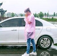 3000pcs moda di una volta Raincoat Hot monouso PE Impermeabili monouso Poncho impermeabili Viaggi cappotto di pioggia Pioggia di usura