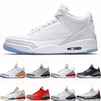 Blanc pur Jumpman de basket-ball Chaussures True Blue Knicks Rivals Designer Mens Sport Sneaker Noir Blanc Ciment feu rouge QS taille Katrina 7-13