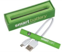 Smart Carts Preheat Battery Batterie 380mAh à tension variable VV avec chargeur Mirco USB Kit stylo vape pour cartouche SmartCart filetage ego 510