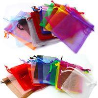 7x9 9x12 10x15 cm 13x18 cm Ajustável Sacos de Embalagem de Jóias Saco de Cordão Sacos de Organza Drawable Bolsas de Presente de Casamento Bolsas de Preços Por Atacado