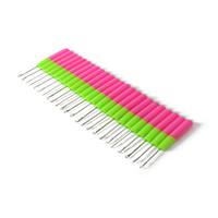 0.75mm semble bambou pour Dreadlock Crochet Crochet Crochet Dreadlocks aiguille Soft Touch Double acier Crochet Crochet pour outil Dreads