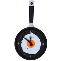 Creative Pan Wall Clock Kitchen Living Room Hanging Clock Ne...