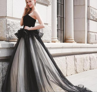 Black White Sweetheart Tulle Quinceanera Dresses Peplum Ruch...