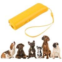 Repeller del cane Anti Barking Dogtraining dispositivo Pet Trainer con illuminazione ad ultrasuoni 3 in 1 Supplies Anti Barking Pet