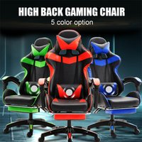 5 Colors PU Leather Gaming Chair Office High Back Recliner W...