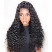 """Kinky Derin Kıvırcık Peruk 10A İnsan Saç Peruk 360 tam dantel insan saçı Vücut 8 perukları """"-26"""" Düz Brezilyalı Saç Su Peru Indian"""