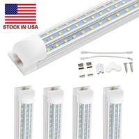 T8 8ft LED forma tubolare V integrati 8 piede lampadine principali LED 4 piedi 5 piedi 6 piedi 8 piedi lavoro della luce 120W tubo fluorescente Lampada