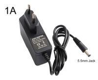 8PC / Väska AC 100V-240V Converter Adapter 1000MA DC12V 1A Strömförsörjning EU UK AU US-kontakt för IP-kamera AHD-kameran WiFi-kamera
