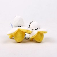 Little Yellow Banana Plush Stuffed Toy Key Chains Small Stri...