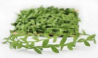 أوراق نبات محاكاة الكروم الخضراء إكليل الديكور الاكسسوارات clothy الأوراق الخضراء أوراق الروطان الاصطناعية الزهور EEA403