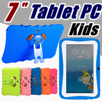 OEM هدية أطفال ماركة الكمبيوتر اللوحي 7 بوصة رباعية النواة الأطفال اللوحي الروبوت 6.0 Allwinner A33 1GB RAM 8GB ROM جوجل لاعب واي فاي مع غطاء القضية