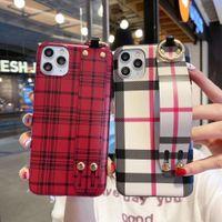 Nueva llegada del diseñador de lujo del teléfono del iPhone para el 11 Pro XS Max XR X 7 8 Plus cubierta de cuero