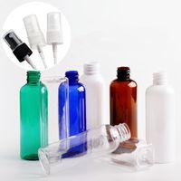 Claro 100ml Spray de botellas vacías de plástico recargable del PET transparente botella de la mano Desinfectante viaje atomizador RRA3204 botella de perfume