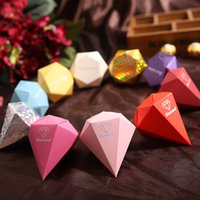 Diamond Candy Box Wedding Favour Boxes Red Gold Silver Sweet...