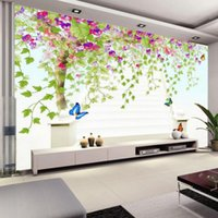 Custom Photo Wall Paper 3D Flower Vine Tree HD Large Painting Wallpaper Modern Living Room Bedroom Non-woven