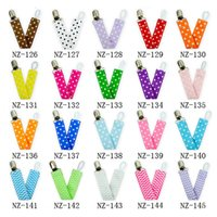 Baby Bib Clip Anti- Drop Chain Double- Sided Ribbon Adjustable...