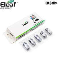 Аутентичный Eleaf EC Coil 0.3ohm 0.5ohm EC NC 0.25ohm EC Ceramic Главы 0.18ohm ECL Глава 0.75ohm ECML Катушки iJust 2 Мело Tank