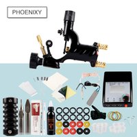 Kit completo do tatuagem Rotary Tattoo Machine Gun Set 30ml Supplies Preto Pigment Poder Grips Conjuntos Permanentes Makeup Tools