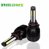 YHKOMS 9006 HB4 LED HB3 9005 H4 D1S D2S D4S H8 H11 H1 H3 LED Ampul 9004 9007 H13 Hi / Lo Far Seti 80W 8000LM Canbus 12V 6000K