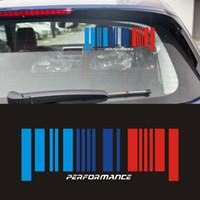 1pcs ventanillas del coche Pegatinas para BMW M Performance Power E30 E34 E36 E39 E46 E60 E90 E83 E61E87 F10 F20 F21 F30 F35 Car Styling Accesorios