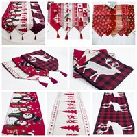 12styles Merry Christmas table Runner Xmas tablecloth Flags ...