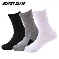 Outdoor Sports Elite Basketball-Socken Herren Radfahren Laufen Yoga Gym Athletische Socken Compression Baumwolltuch Bottom Herren Socken High Quality