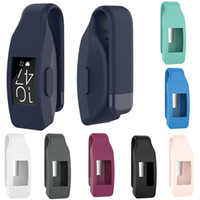 Silicon Case Cover Steel Clip Clasp Holder For Fitbit Inspir...