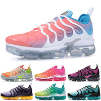 Nike Air Vapormax 2019 New Cushions Tn Plus Zapatillas de running para mujer Reverse Sunset Lava Glow Blue Lagoon SUMMER SUNSET tns Shoes Designer Trainers Women Sneakers