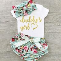 Desgaste infantil Bebé para niños VERANO PAPÁ MUCHACHA Robas + Pantalones cortos florales + cabeza de cabeza