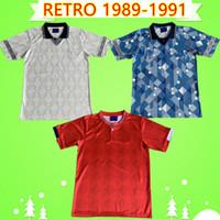 England Retro Jersey Jersey 1989 1990 Camisa de Futebol Canclassic Vintage Robson Platt Beardsley Lineker Owen Gascoigne Home Terceiro Branco