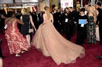 2020 새로운 오스카 제니퍼 로페즈 레드 카펫 연예인 드레스 쉬어 파란색 얇은 명주 그물 저녁 샴페인 가운 vestidos 드 노비