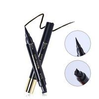 Joint eye-liner liquide Crayon à double tête étanche 24 Heures de longue durée noir mat Eyeliner maquillage pour les yeux