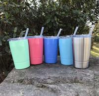 12 oz crianças tumblers água Cup 304 copos de aço inoxidável de parede dupla de café xícara de leite vinho cerveja canecas frasco infantis em estoque