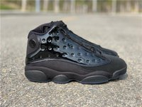 662610aa7eb New Arrival. 2019 Authentic 13 Cap and Gown 13s Real Carbon Fiber All Black  Mes Basketball Shoes ...
