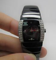 بيع ساخنة جديدة السيراميك أزياء سوداء الساعات الساعات الفاخرة للحركة المرأة ساعات الكوارتز ساعة اليد إناث rd26