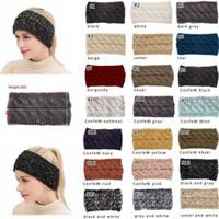 21Colors tricot crochet large femmes Bandeau de sports d'hiver Headwrap Hairband Turban chaudes Cache-oreilles de l'oreille queue de cheval cheveux Accessaries ST683