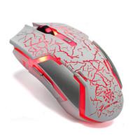 Wirless Rato Recarregando Rachamento Backlights Gaming Mouse Respiração Ratos A Laser Bateria Construído em Ratos para Desktop Laptop