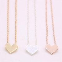 Mini Solid heart- shaped pendant necklace Metal material love...